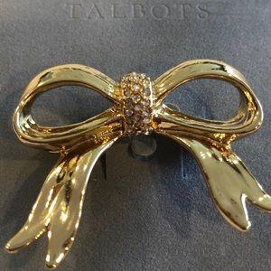 Talbots Gold Bow Brooch